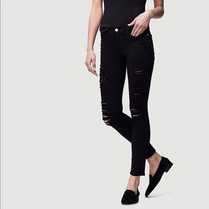Frame Skinny de Jeanne Ripped Black Jeans